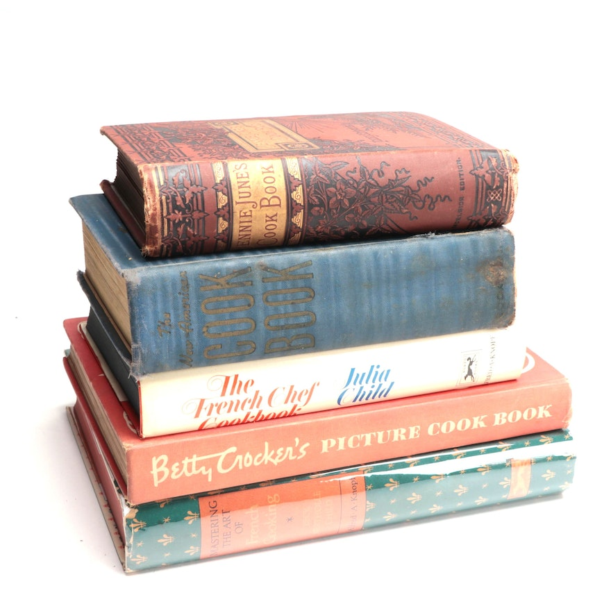 First Edition Cookbooks by Julia Child and Betty Crocker, and More Cookbooks