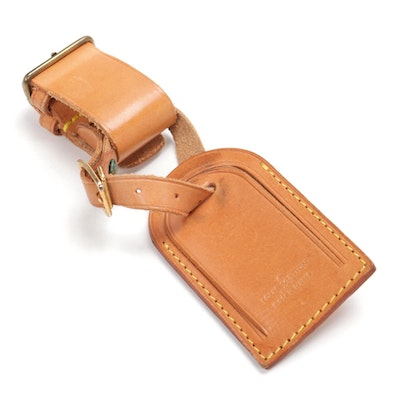 Louis Vuitton Luggage Tag and Poignet Set in Vachetta Leather