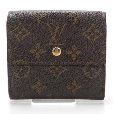 Louis Vuitton Portefeuille Elise in Monogram Canvas and Leather