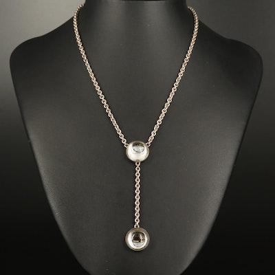 Lalique Sterling Drop Necklace