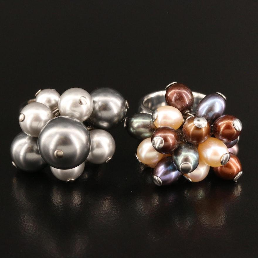 Pearl Rings Featuring Celine