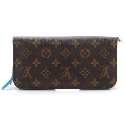 Louis Vuitton Portefeuille Insolite in Monogram Canvas and Blue Leather