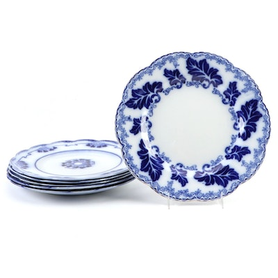 """W.H. Grindley """"Lorne"""" and """"Marie"""" with Johnson Bros. """"Normandy"""" Flow Blue Plates"""