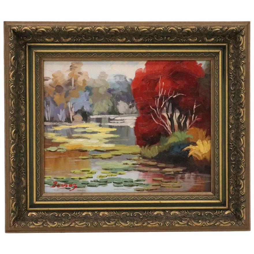 Post-Impressionist Style Landscape Oil Painting, 21st Century