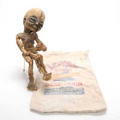Alien Doll with Seed Corn Sack