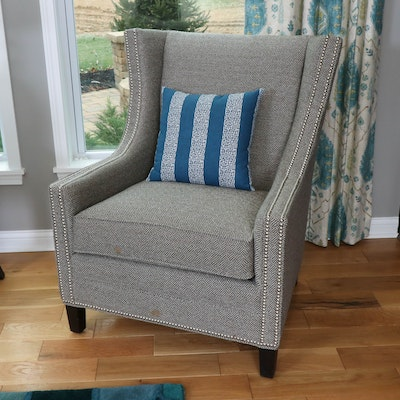 Fairfield Furniture Tweed Armchair with Nailhead Trim