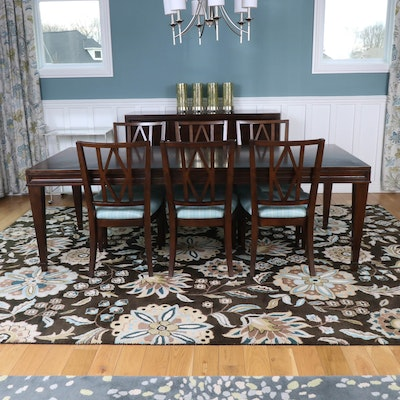 Hooker Furniture Dining Table with Six Bassett Dining Chairs