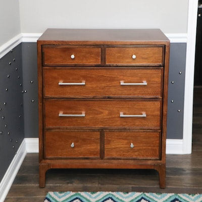 Somerton Dwelling Walnut-Stained Chest of Drawers