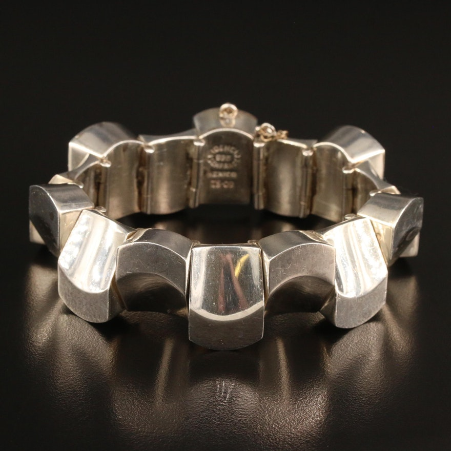 Fidencio Serrano Modernist Mexican Sterling Silver Bracelet