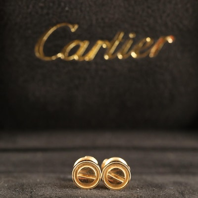 "Cartier ""Love"" 18K Stud Earrings"