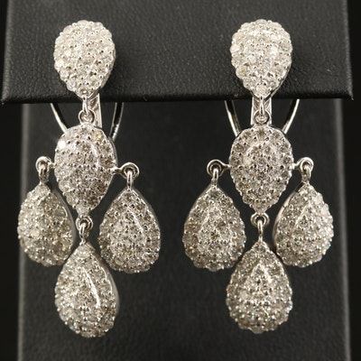 18K 6.85 CTW Diamond Girandole Earrings