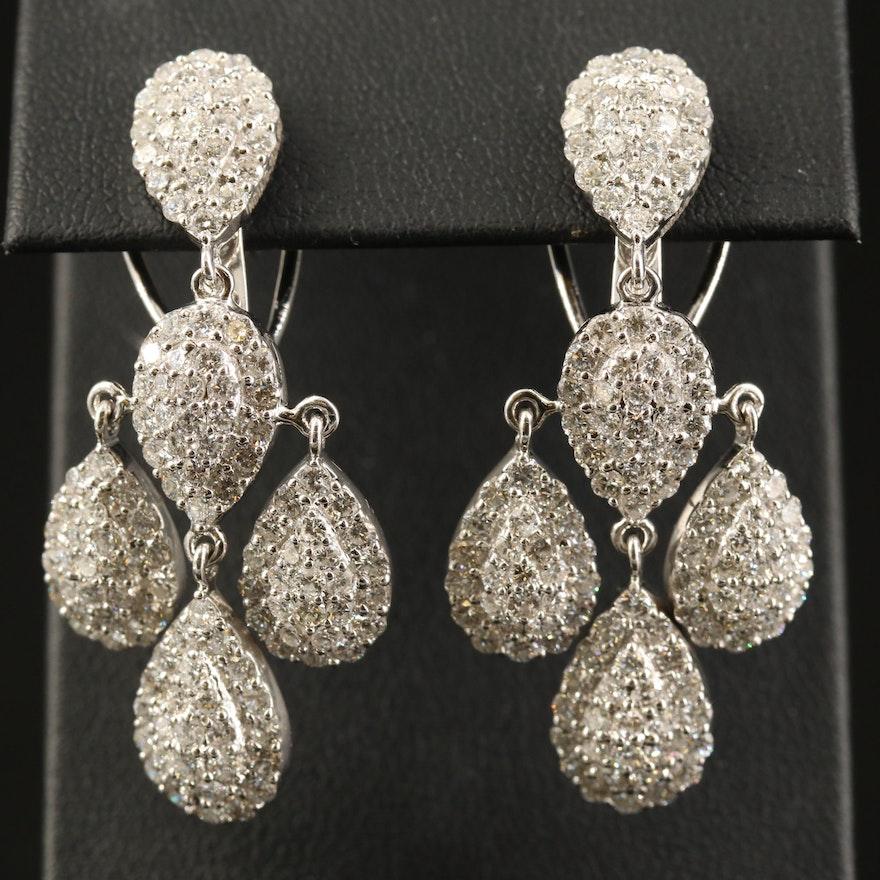 18K 6.85 CTW Diamond Girandole Earrings