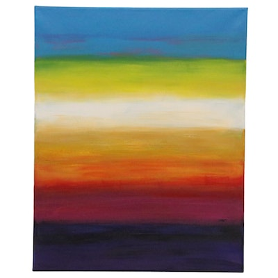 "Sanna Abstract Acrylic Painting ""Setting Sun,"" 2020"