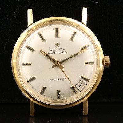 Vintage Zenith Autosport 18K Gold Automatic Wristwatch