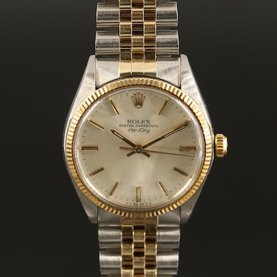 1979 Rolex Air King 5501 14K Gold and Stainless Steel Automatic Wristwatch