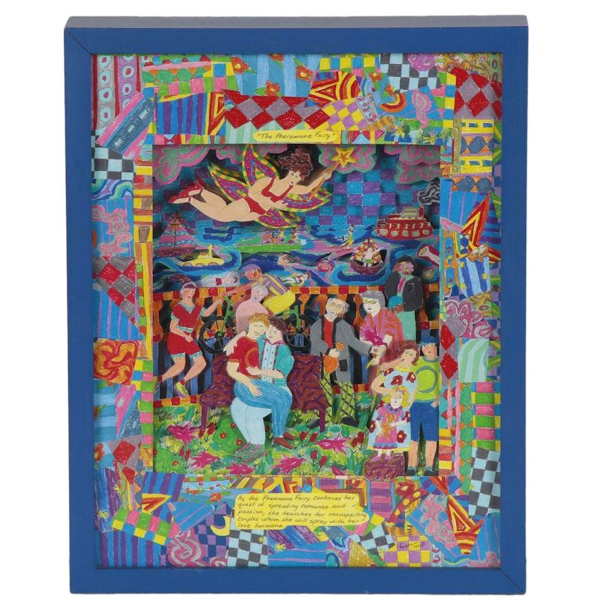 "Graham Scarborough Davidson 3-D Collage ""The Pheromone Fairy,"" 2002"