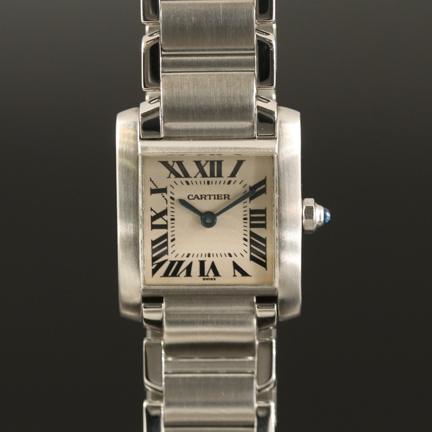 Cartier Tank Francaise Stainless Steel Quartz Wristwatch