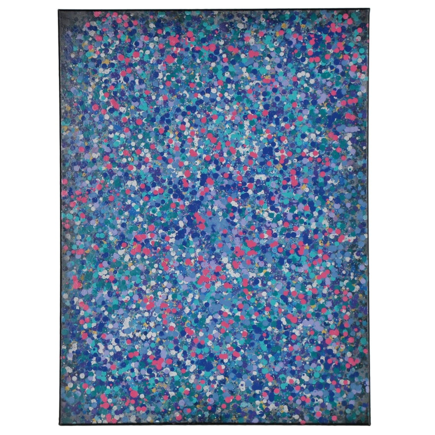 """Jason Michael Durham Abstract Mixed Media Painting """"In Bloom"""""""