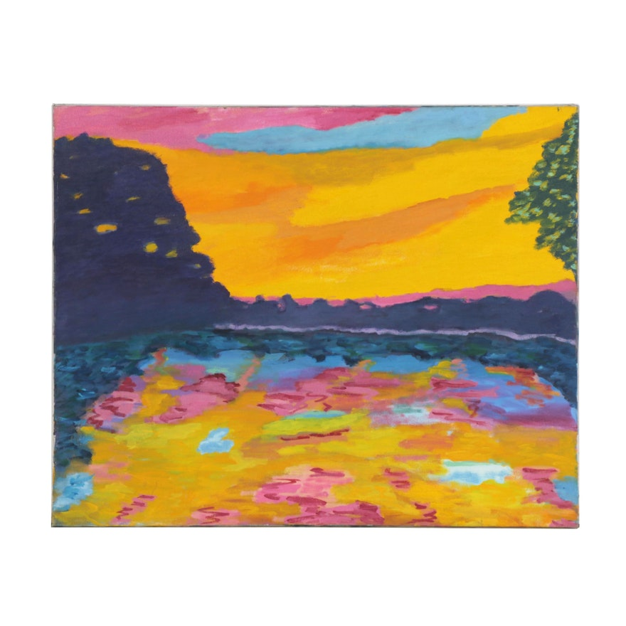 Jerald Mironov Fauvist Style Oil Painting