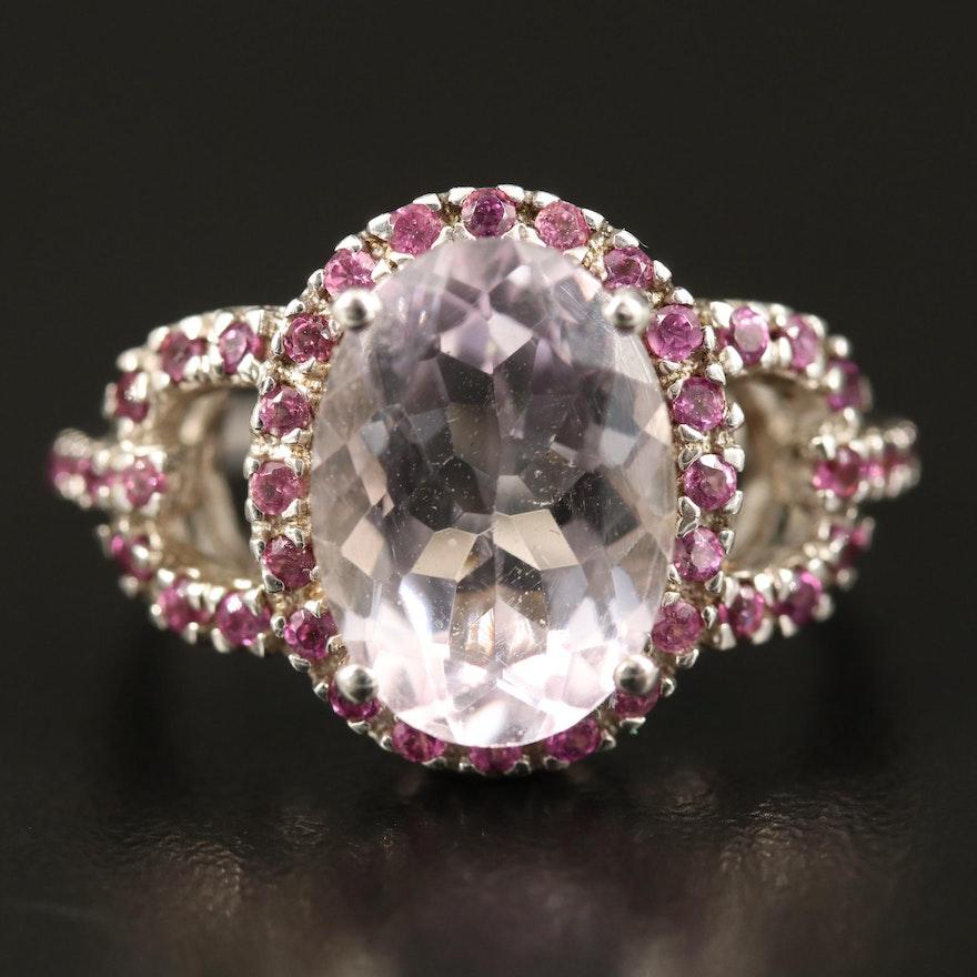 Sterling Amethyst and Rhodolite Garnet Ring