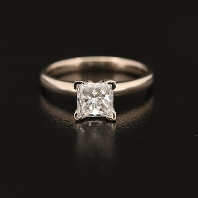14K 1.00 CT Diamond Solitaire Ring with GIA Report