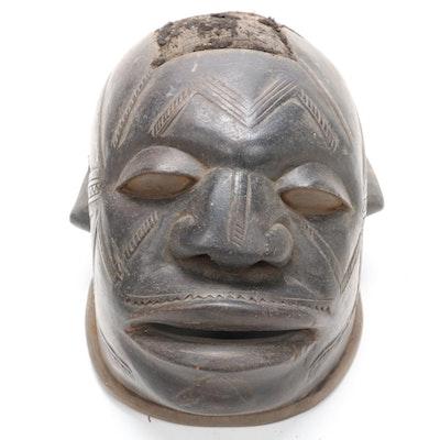 Makonde Style Wooden Helmet Mask, East Africa