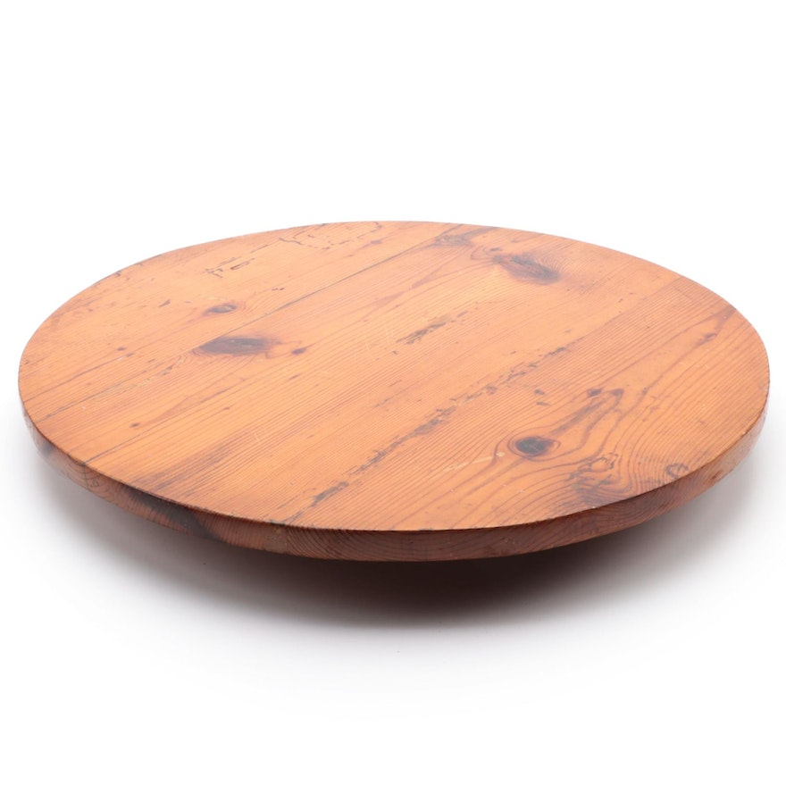 American Primitive Style Pine Lazy Susan Rotating Board