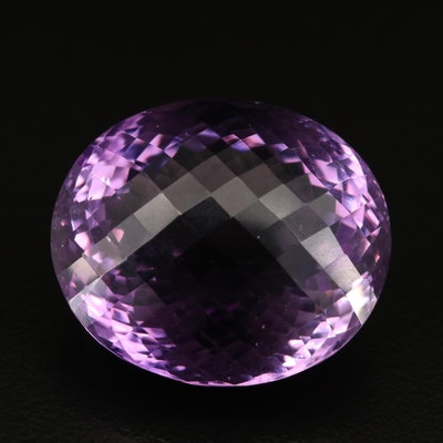 Loose 75.06 CT Checkerboard Oval Faceted Amethyst
