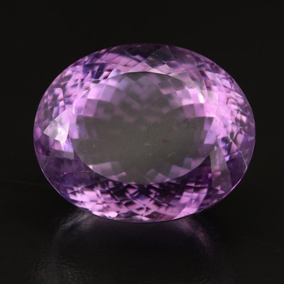 Loose 75.87 CT Oval Faceted Amethyst