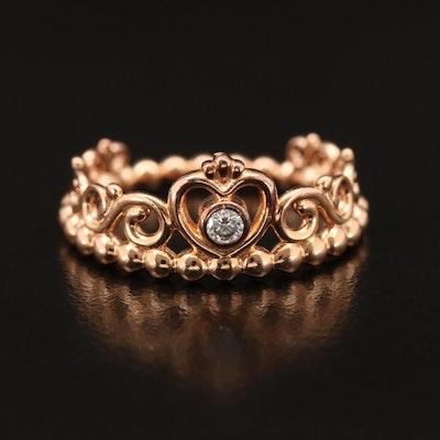 Pandora Cubic Zirconia Princess Ring