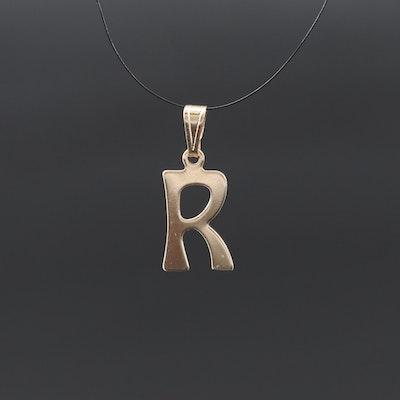 """Monogram """"R"""" Pendant"""