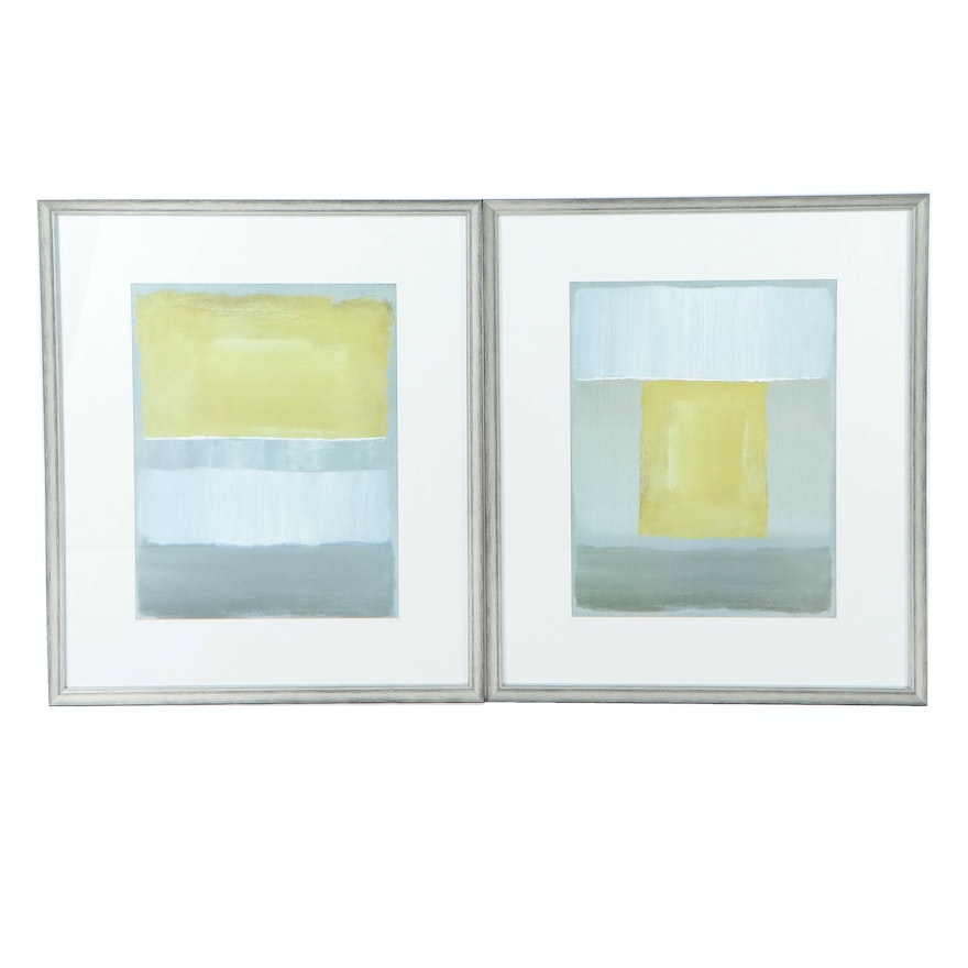 Minimalist Style Color Field Offset Lithographs