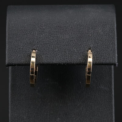 14K Square Edged Hoop Earrings