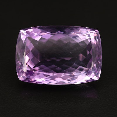Loose 44.59 CT Modified  Rectangular Faceted Amethyst