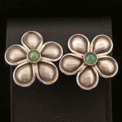 Ilaria Sterling Silver Chalcedony Flower Earrings