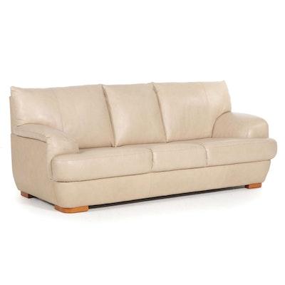 Nicoletti Contemporary Italian Leather Sofa