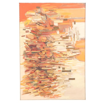 Monumental Non-Objective Oil Painting, 1958