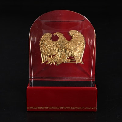 "Steuben ""Prism of the Eagle"" Art Glass Figurine Designed by James Houston"