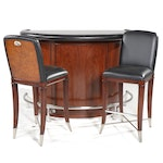 "Thomasville Bogart Collection ""El Morocco"" Home Bar and Pair of Barstools"