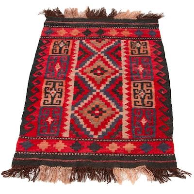 2'4 x 4' Handwoven Afghan Baluch Kilim Wool Accent Rug
