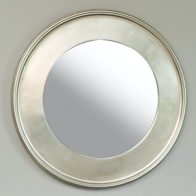 Bassett Furniture Satin Silver Tone Wall Mirror