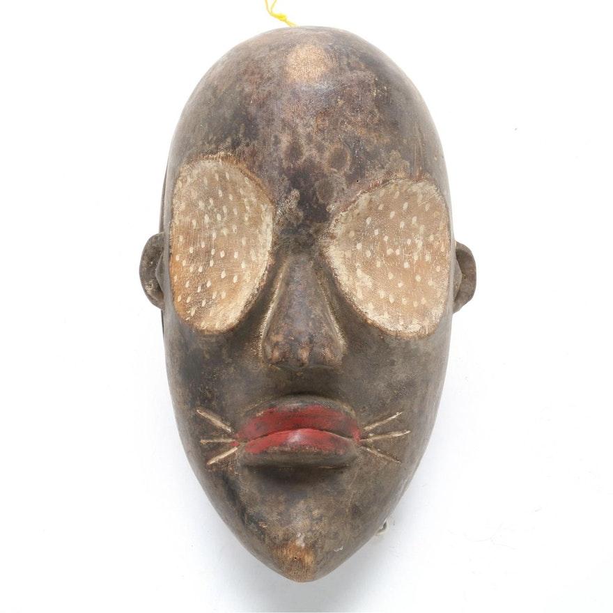 Lulua Inspired Wooden Mask, Democratic Republic of the Congo