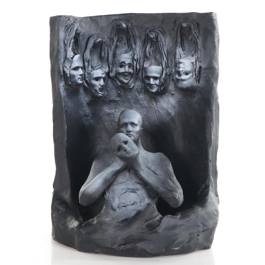 Sean Corner Figural Terracotta Sculpture, 2005