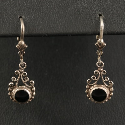 Sterling Black Onyx Dangle Earrings