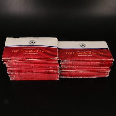 Forty 1987 U.S. Mint Uncirculated Sets