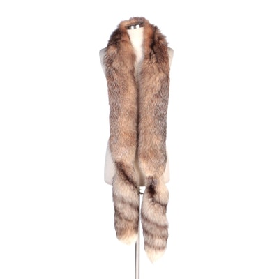 Fox Fur Stole with Tails