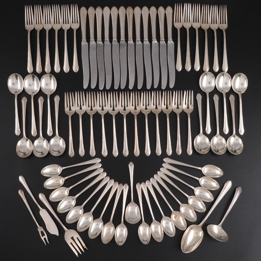 """Alvin """"Romantique"""" Sterling Silver Flatware, Early to Mid-20th Century"""