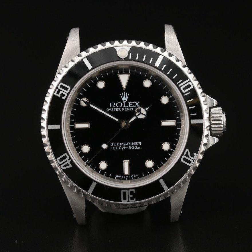1997 Rolex Submariner 14060 Stainless Steel Automatic Wristwatch