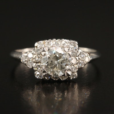Platinum and 10K 1.64 CTW Diamond Ring