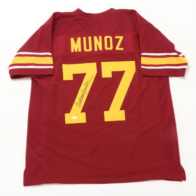 Anthony Munoz Signed USC Replica Jersey  COA
